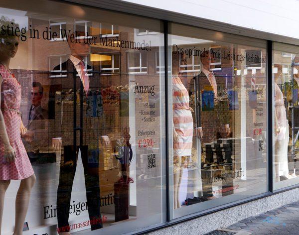 Unser Anzugpaketsystem - jetzt auch in unseren Schaufenster am Markt in Dülmen!
